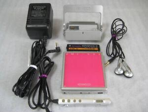 KENWOOD MD Walkman DMC-S33 Minidisc Player MDLP Pink F/S