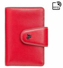 NEW Women Medium RFID Blocking Soft Real Leather Cash & Coin Purse Multicolour