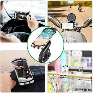 Universal Motorcycle Bike Bicycle Pram Handlebar Handle Phone GPS Holder Mount