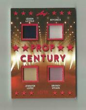 2019 Leaf Pop Century Prop 4 PC4- Quad Relic 2/10 Beyonce Spears Jlo Queen Lat