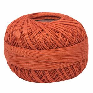 Lizbeth Egyptian Cotton Crochet Thread Size 10 Color 702 Medium Coral Orange