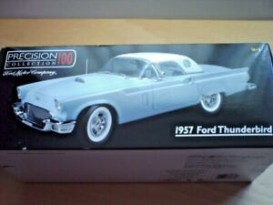 ERTL PRECISION 100 BLUE 1957 FORD THUNDERBIRD 1/18 SCALE MINT/BOXED CONDITION