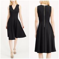 NWT Calvin Klein BLACK Fit & Flare Midi Dress $134 Sleeveless Pleated sz 10 Macy