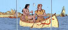 A. Juillard – Plume aux vents – Triptyque en sérigraphie Horizon BD