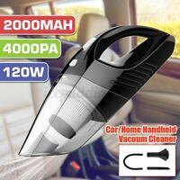 Cordless Car Vacuum Cleaner 12V 4000Pa Portable For Auto Mini Hand Held Wet Dry