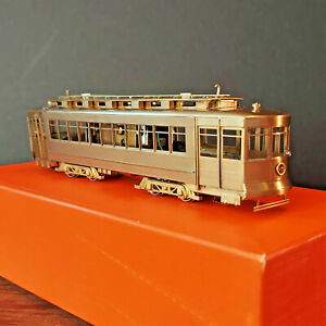 1970's CSL PULLMAN STREETCAR HO Brass by FAIRFIELD MODELS - NOS - Tested