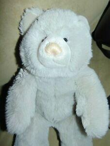 "Vintage 1985 Gund Gray Teddy Bear 14"" Plush"