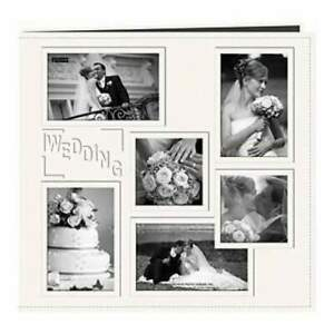 Pioneer  - Sewn Embossed Collage Frame Post Bound Album 12In. X12in.  Wedding -
