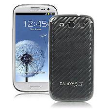 Samsung S3 SIII Galaxy i9300 Akku Deckel Schutzhülle Carbon Optik schwarz Cover