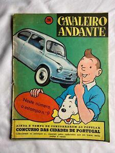Cavaleiro Andante magazine 1957 Tintin on the cover launch Fiat 600