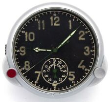 5-day Soviet WWII (1945-made) AirForce Cockpit Panel Clock 18CS / 18ChS ORIGINAL