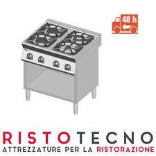 Cucina PROFESSIONALE a GAS 4 fuochi PRONTA CONSEGNA. Dim.cm. 80x90x85H.