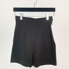 Isabel Marant High Waist Brown Shorts Wool Blend Size 1