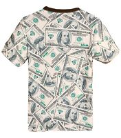 Dollar Bill All Over T-Shirt   3d printed graffiti retro money benjamin franklin