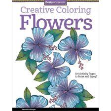 Design Originals Creative Coloring Flowers Art Activity Book Relax and Enjoy!