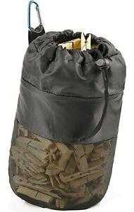 Mesh Clothespin Bag Hanging Clothes Pin Bag with Drawstring, Storage & Blue Clip