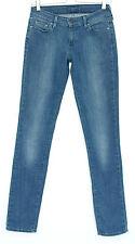 Curva azul Levis Delgado Pierna leve baja altura Stretch Jeans Talla 8 W26 L34