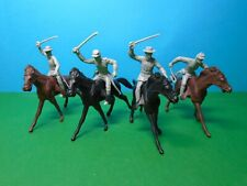 Marx 1/32 scale ACW Confederate Cavalry x4 (grey)