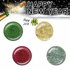 UV Gel Colour Farbgelset Nagelgel Farbgel Glittergele Set HAPPY NEW YEAR 20 ml