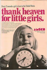 1968 PAPER AD 4 PG Amsco Baby Heather Doll Toy High Chair Regina Vacuum Cleaner