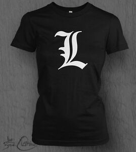 Death Note T-shirt Death Note L WOMEN'S LADY FIT, Light, Anime, Manga, One Piece