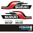 Suzuki 25hp 2 Stroke Outboard Engine Decalssticker Kit