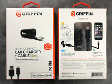 GRIFFIN Ultra-Compact Car Charger + Cable Lightening Connector for Apple 12W 3'