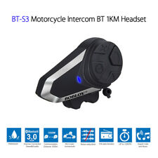 2pcs BOBLOV BT-S3 Motorcycle Bluetooth Intercom Headset FM Radio Music Up to 1KM