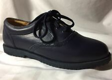 Willits Leather Uniform Shoes Solid Blue Saddle Lace Up Honor Roll Size 5-1/2M
