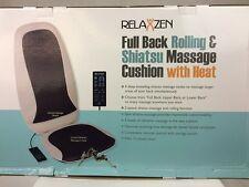 Relaxzen 60-2955 Full Back Shiatsu & Rolling Massager w/ Heat, Beige/Dark Gray