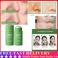 Green Tea Purifying Clay Stick Mask Oil Control Anti-Acne Eggplant Fine Solid H/