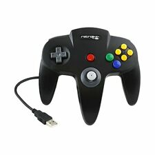 Retrolink Nintendo 64 Style Classic USB Controller (Black) for PC and Mac