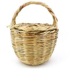 Rouven / Icone Parisienne Basket Tote Tasche / L / Weidenkorb mit Deckel Korb