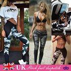 UK Women Yoga Pants Ladies Fitness Leggings Running Gym Exercise Sports Trousers