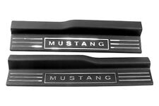 2005-2009 Ford Mustang Door Sills Trim Scuff Plates Lettering Inserts Kit Chrome