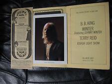 JOHNNY WINTER /B.B. KING FILLMORE EAST PROGRAM Jan 1969 + AD LED ZEPP AD read on