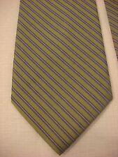CLAIBORNE Men's Silk Neck Tie - Green Blue White Diagonal Stripes