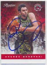 ANDREA BARGNANI TORONTO RAPTORS SIGNED CARD BROOKLYN NETS NEW YORK KNICKS