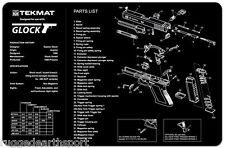 TekMat Gun Cleaning Mat Parts Schematic For GLOCK 17 19 21 22 23 27 Handgun