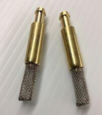 "2x Intank Pickup Fuel Filter 1/4"" Polaris 7052037 7052081 Brass w/Steel Mesh"