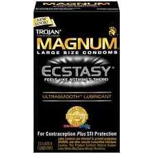 Trojan Magnum Ecstasy  Large Size Condoms