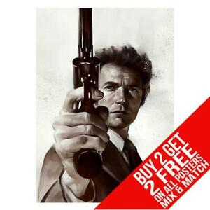 DIRTY HARRY BB1 CLINT EASTWOOD POSTER PRINT A4 A3 SIZE - BUY 2 GET ANY 2 FREE