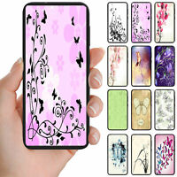 For Samsung Galaxy Series Butterfly Theme Print Mobile Phone Back Case Cover #2