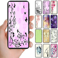 For Samsung Galaxy Series Butterfly Theme Print Mobile Phone Back Case Cover #1