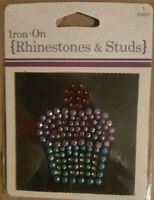 Horizon - Hirschberg Schultz - Rhinestone & Studs Cupcake Iron On Appliqué Patch