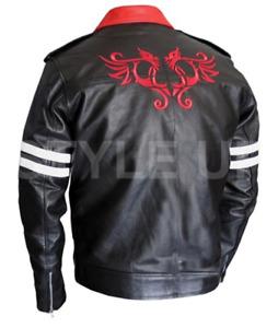 Prototype Alex Mercer Red Dragon Casual BIker Style Black Faux Leather Jacket