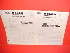 1960 CADILLAC FLEETWOOD 75 LIMOUSINE UNITED MOTORS DELCO AM RADIO SERVICE MANUAL