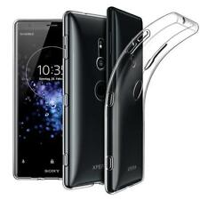 For Sony Xperia XZ2 Clear Tempered Glass Screen Protector and TPU Gel Back Case