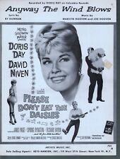 Any Way The Wind Blows 1959 Doris Day Please Don't Eat the Daisies Sheet Music