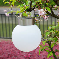 Outdoor Solar Power LED Hanging Light Ball Pond Pool Path Landscape Garden Lamp
